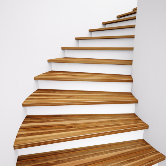 wooden stairs going upwards