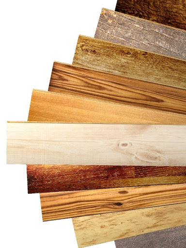a variety of different types of wood for hardwood flooring