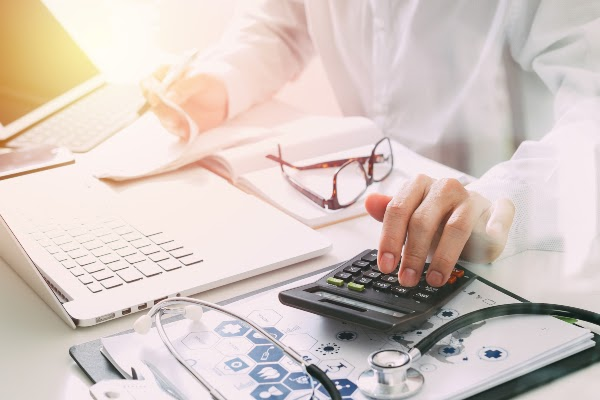doctor managing healthcare billing process