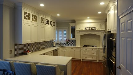 off white kitchen cabinetry
