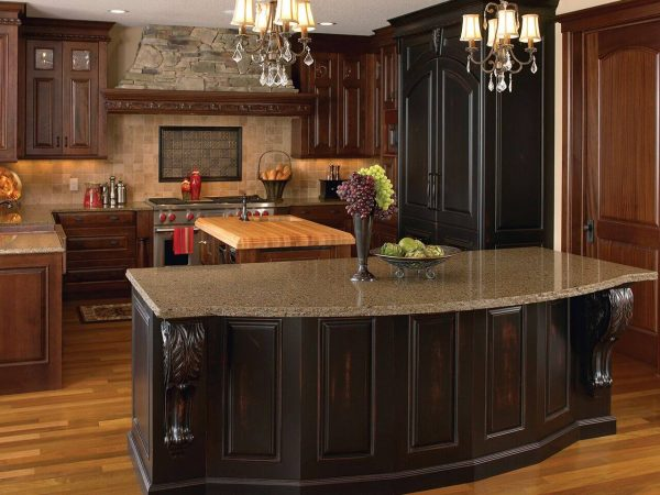 Large two toned kitchen