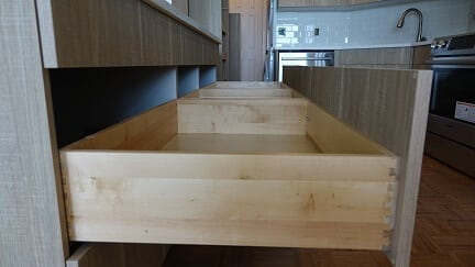 the interior of a kitchen drawer