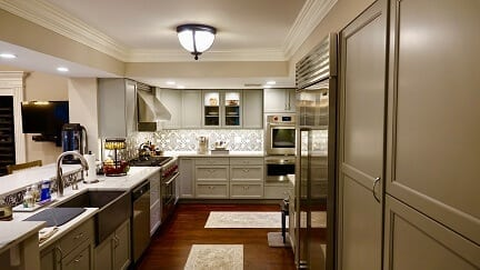 gray tone kitchen cabinets