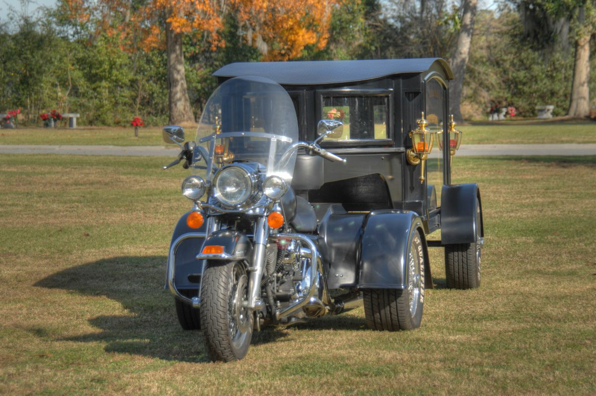 motorcycle hearse burial service