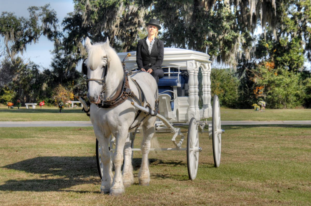 horse drawn carriage burial service