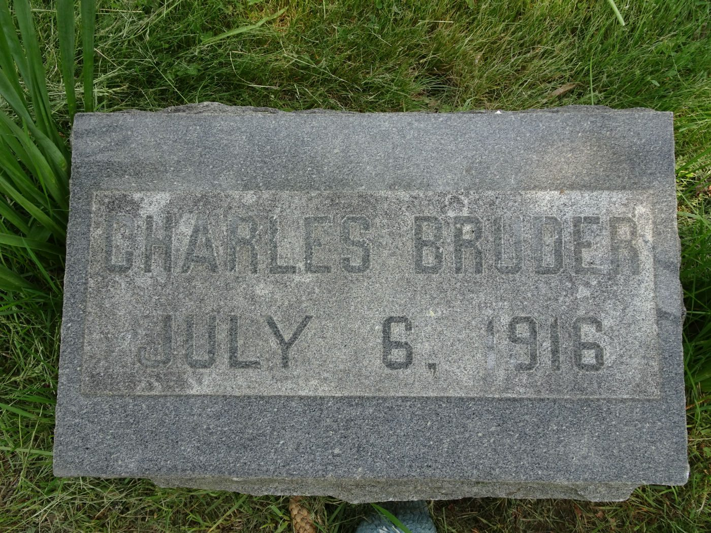 close up of a headstone