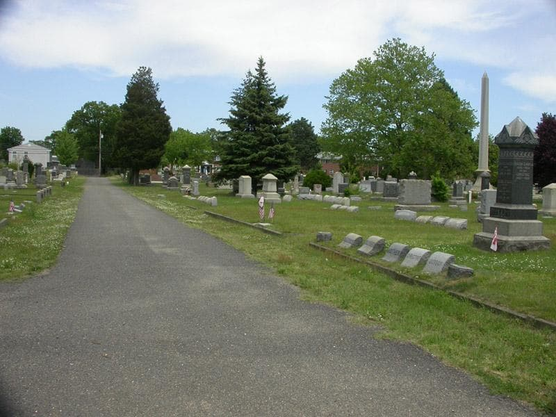 headstones and cemetery