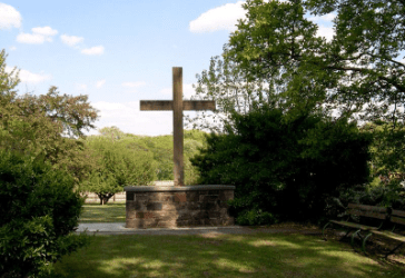 Cross at burial ground