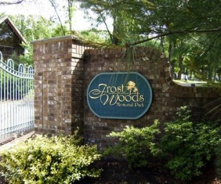frost woods sign